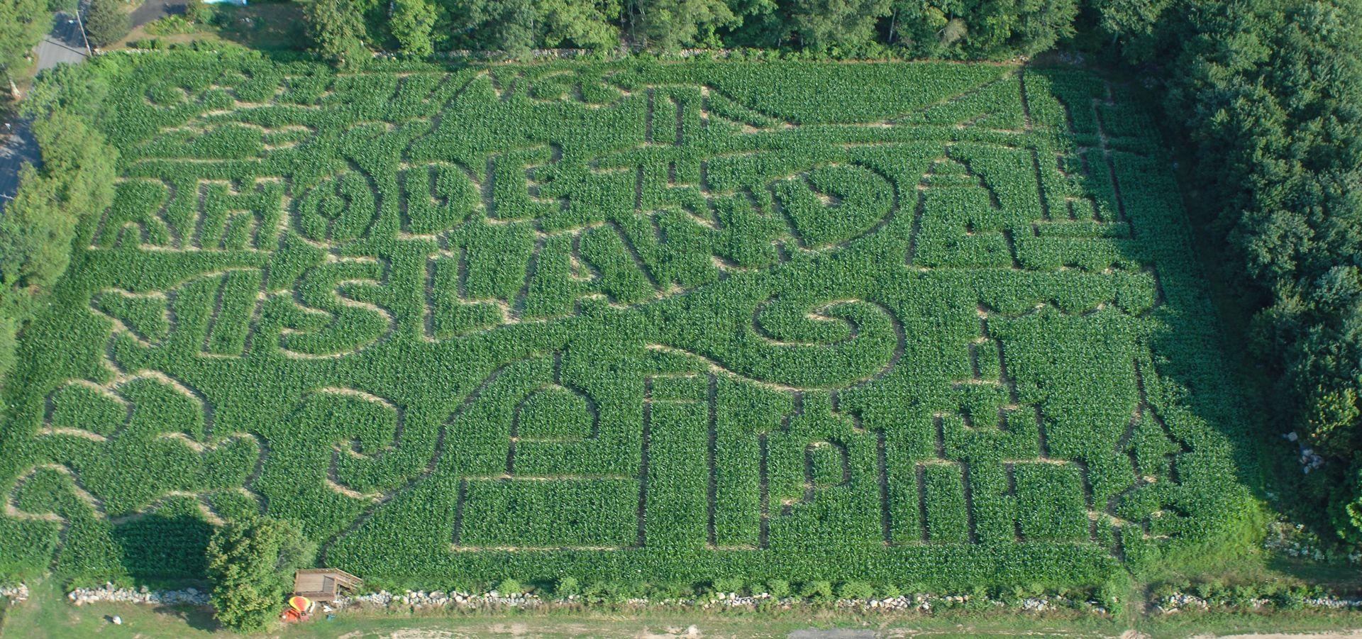 Salisbury Farm's 2016 Rhode Island Corn Maze